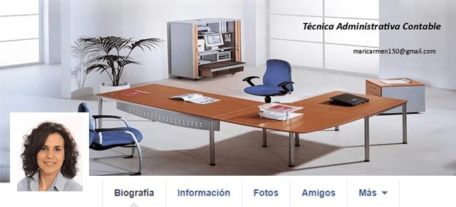 Buscar trabajo con Facebook y en Facebook-Pantallazo Mari Camen