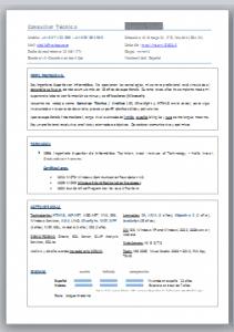 cuadros y marcos en un currículum visual