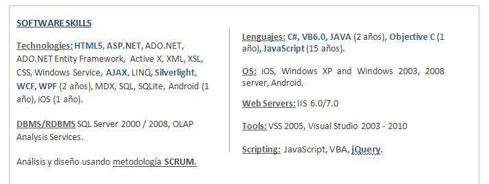 Currículum Tecnológico