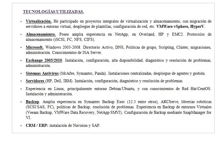 Currículum Tecnología