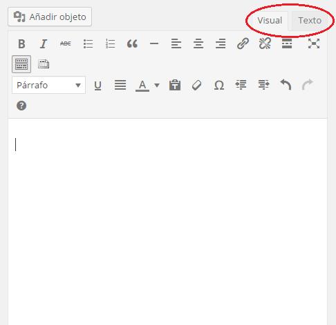 Añadir nueva entrada-visual y texto