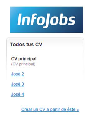 Infojobs-crear diferentes Curriculum