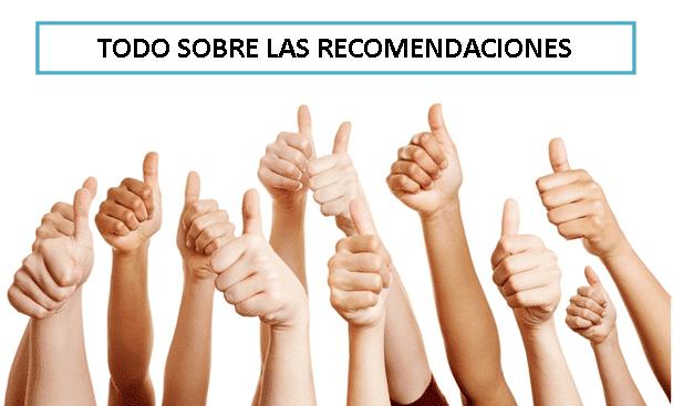 Gestión de recomendaciones