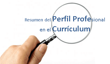 Resumen del Perfil Profesional en el currículum
