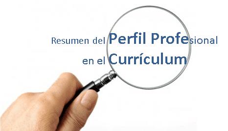 Como Redactar El Perfil Profesional En El Curriculum