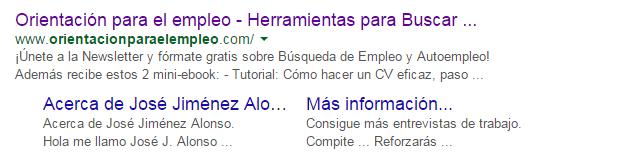 Busqueda Google Titulo blog