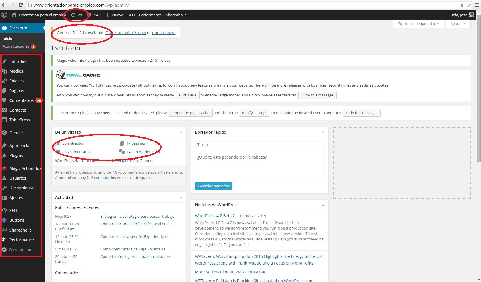 Wordpress escritorio Principal-tutorial