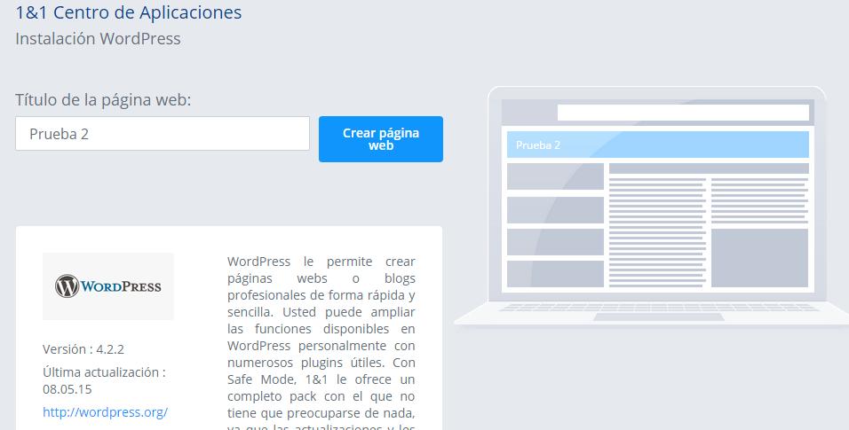 instalar WordPress en 1and1-tutorial