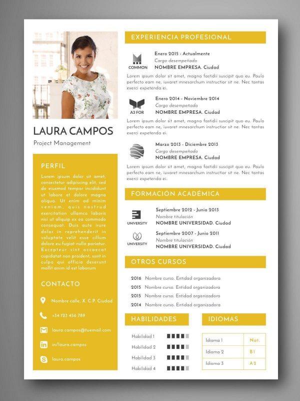 plantilla Curriculum editable español