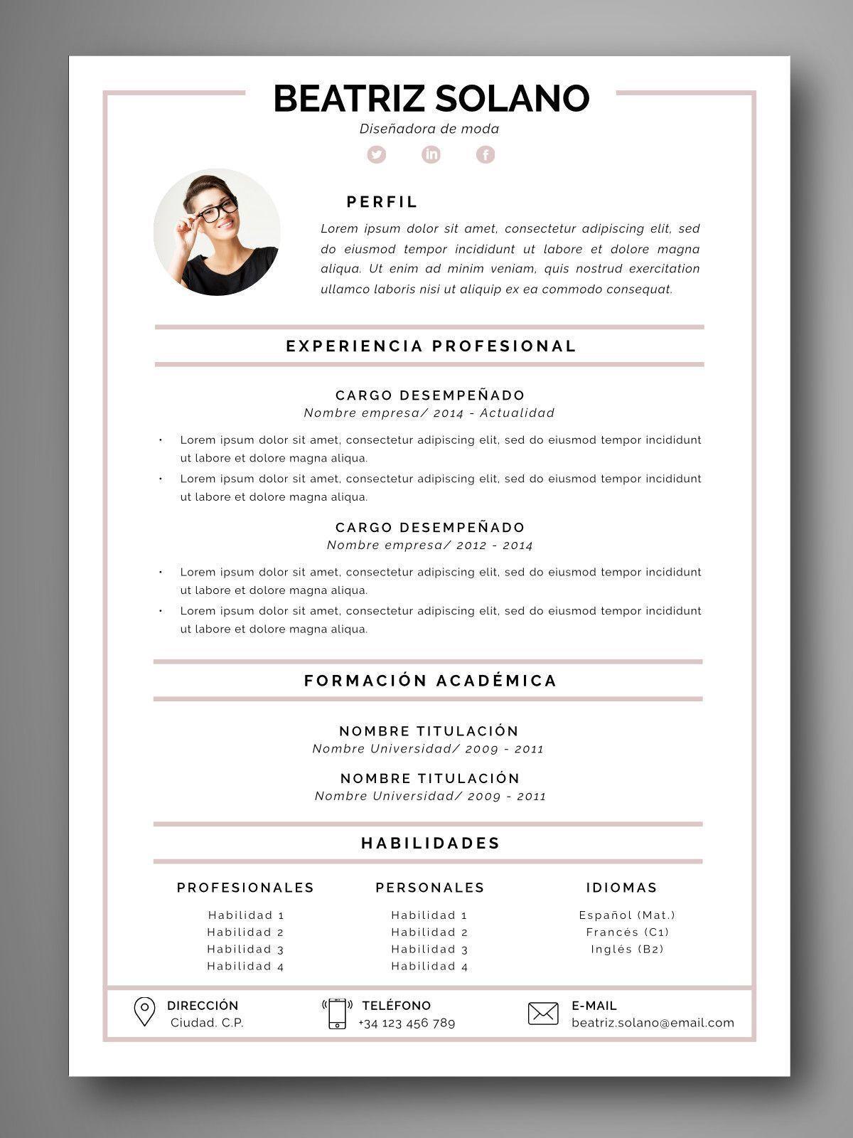 PLANTILLA CV COIMBRA - Orientación para el empleo. Herramientas para ...