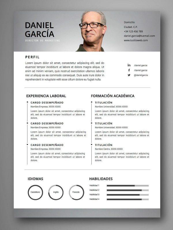 plantilla curriculum español word