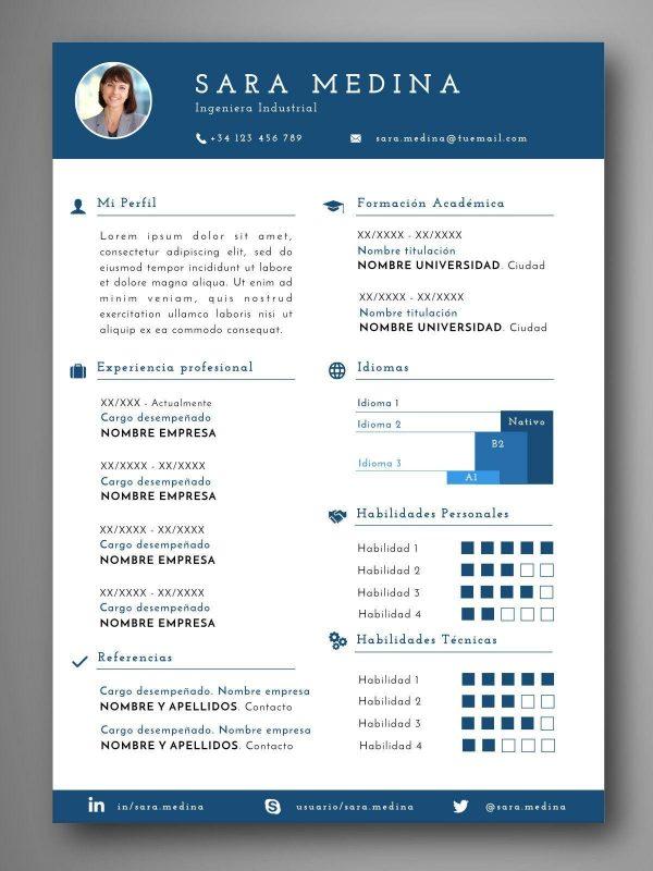 plantillas curriculum español editable