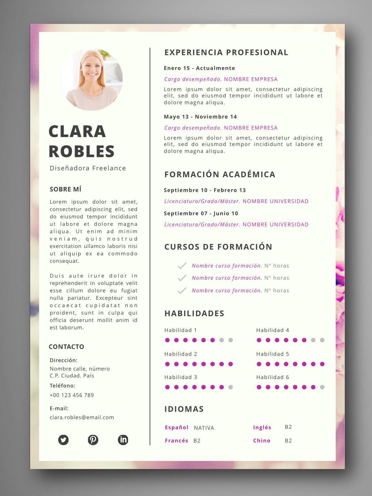 PLANTILLA CV PRAGA - Orientación para el empleo
