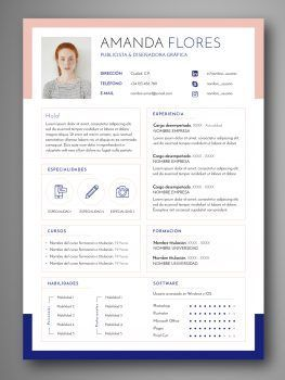 plantilla curriculum español
