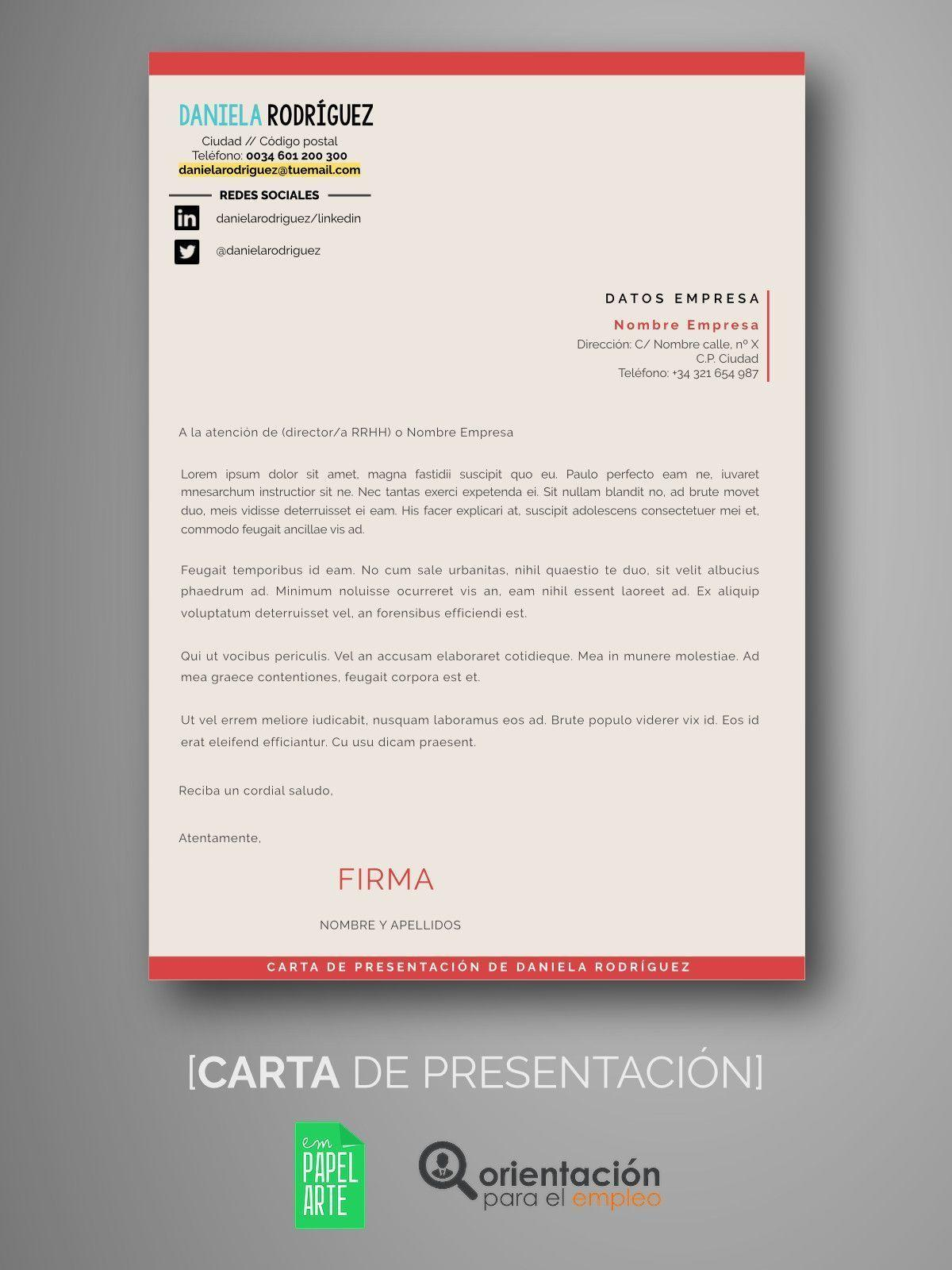 Lujo Escribir La Mejor Carta De Presentación Del Cv Imagen - Ejemplo ...