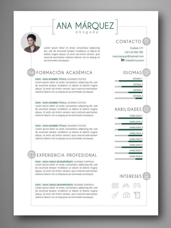 mejores plantillas curriculum editable word español