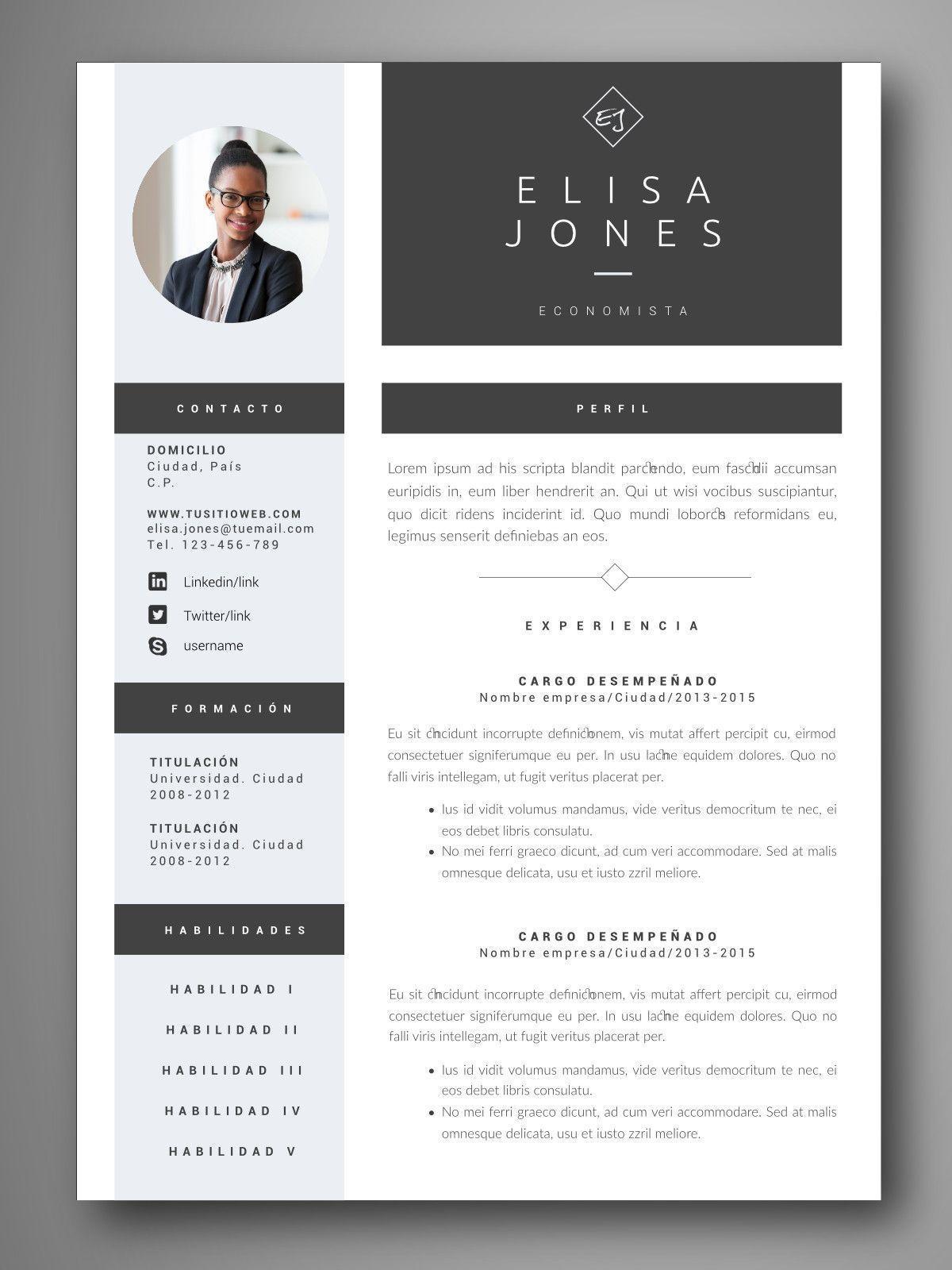 PLANTILLA CV ROMA - Orientación para el empleo. Herramientas para ...