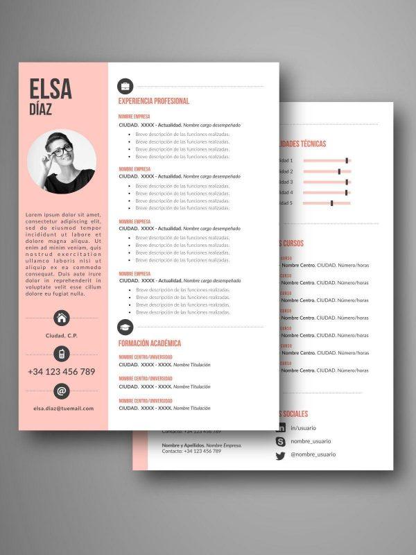 mejores plantillas curriculum dos pagina word