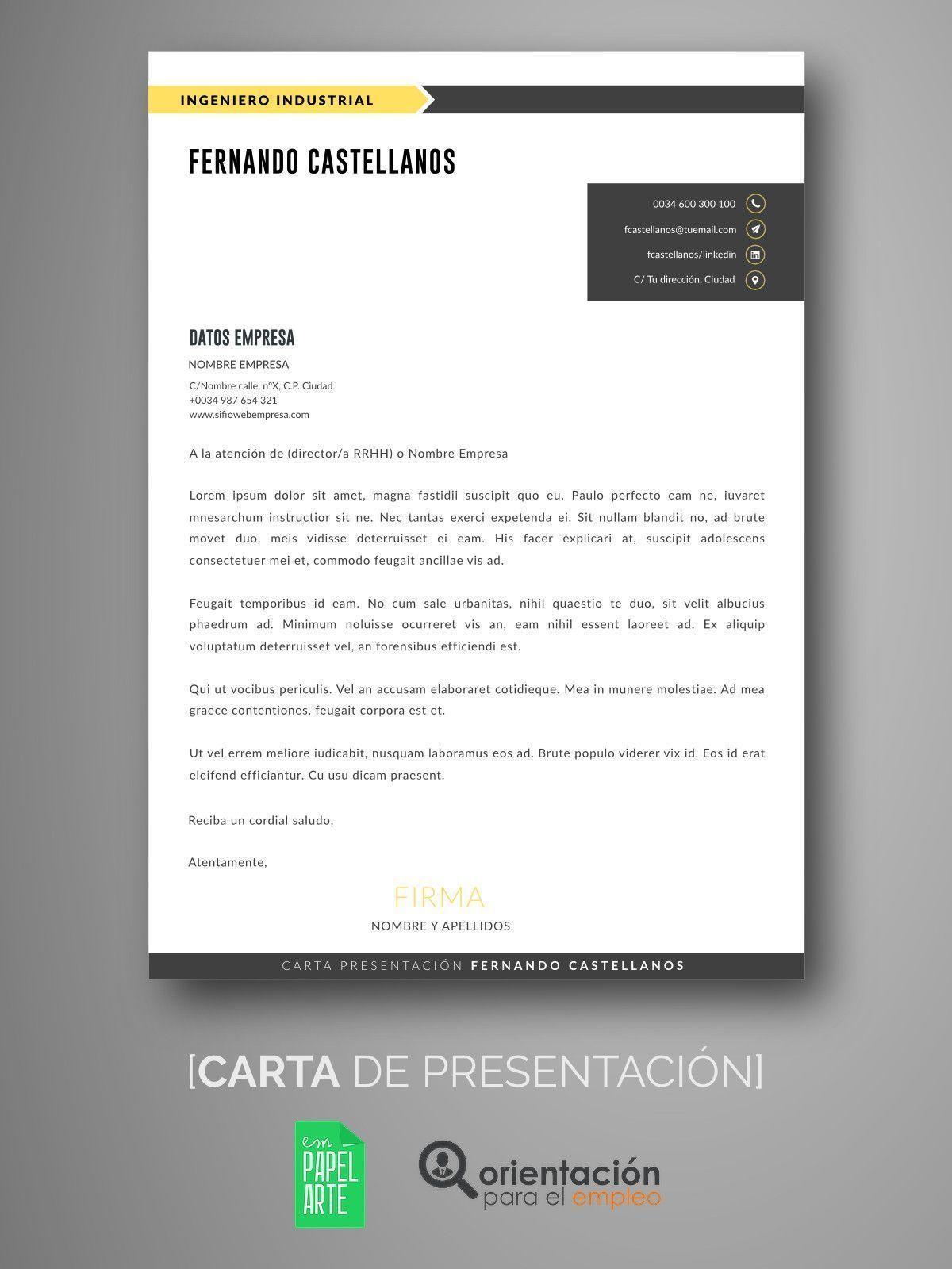 Perfecto Carta De Presentación Plantilla Word Gratis Bandera ...