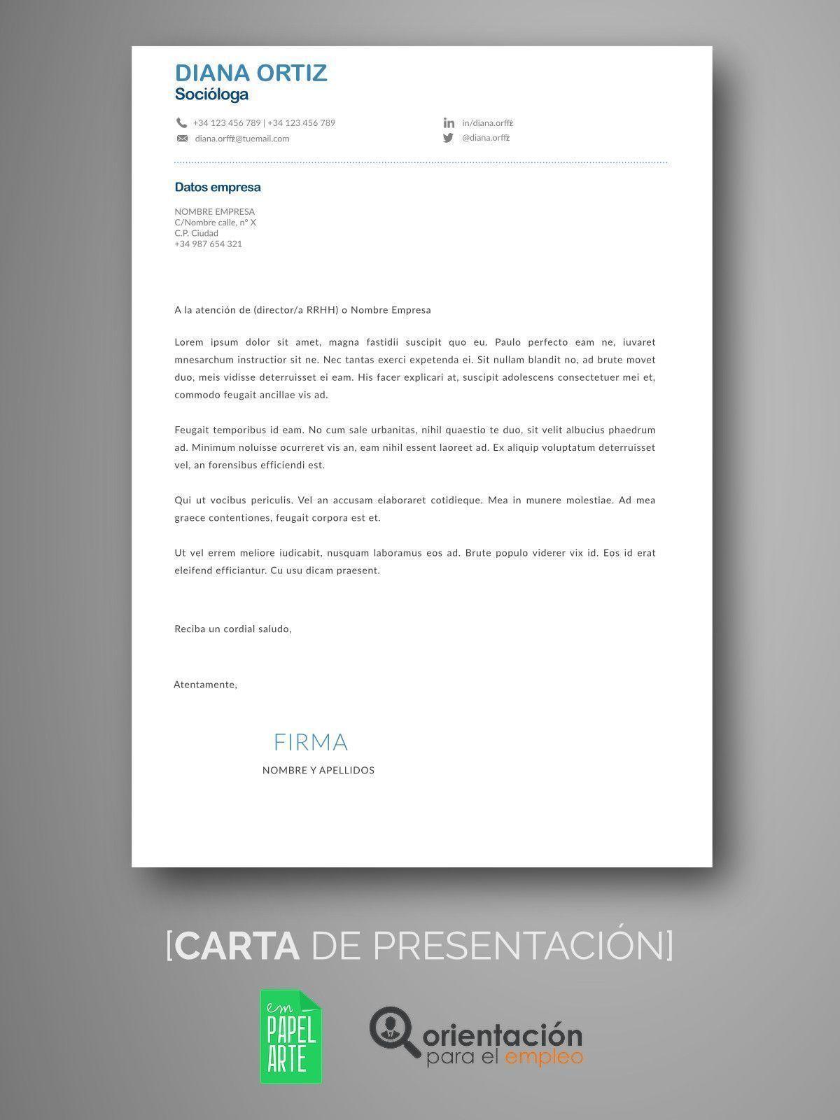 Excelente Reanudar El Envío De Cartas De Presentación Ideas ...