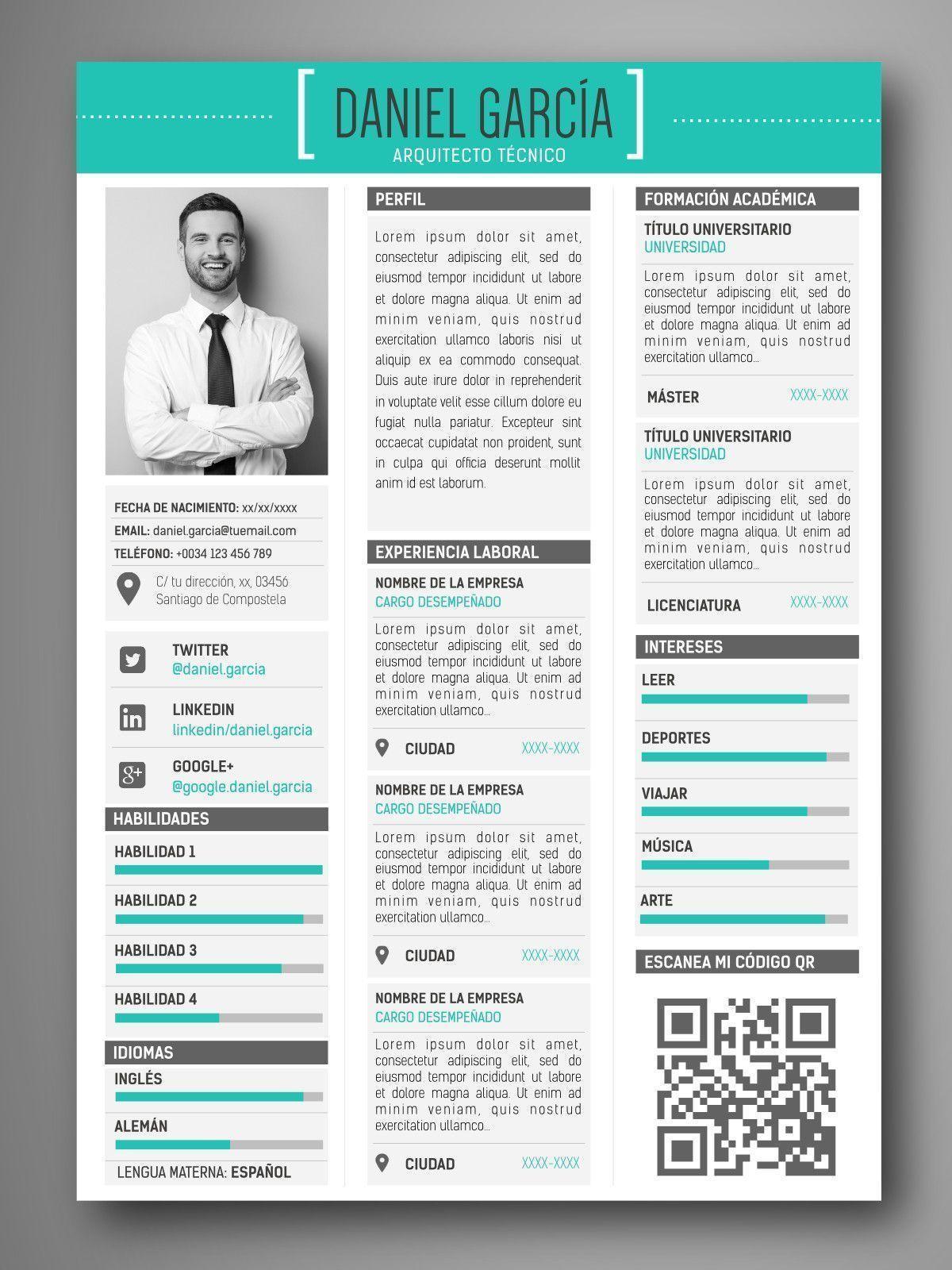 Plantilla Cv Infografia Moscu