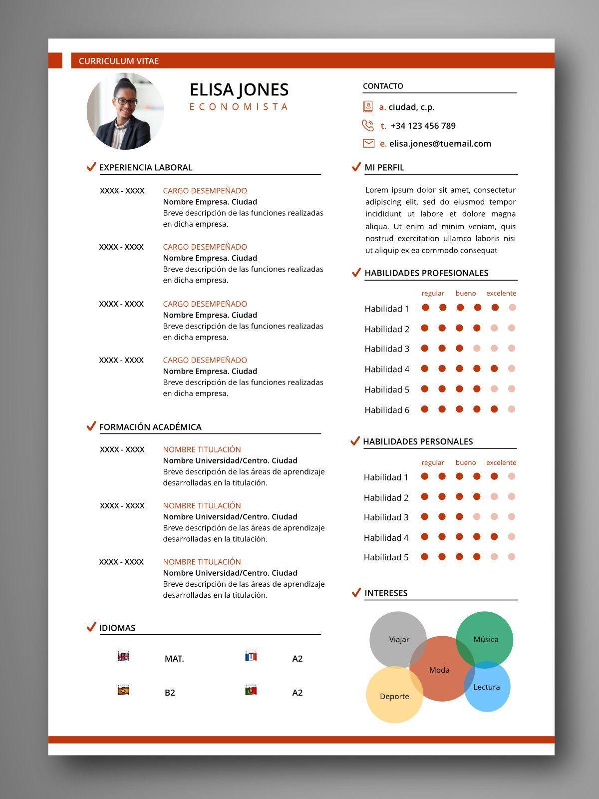 plantilla cv infografia tokio