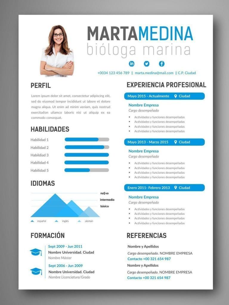 plantilla cv infografia toronto