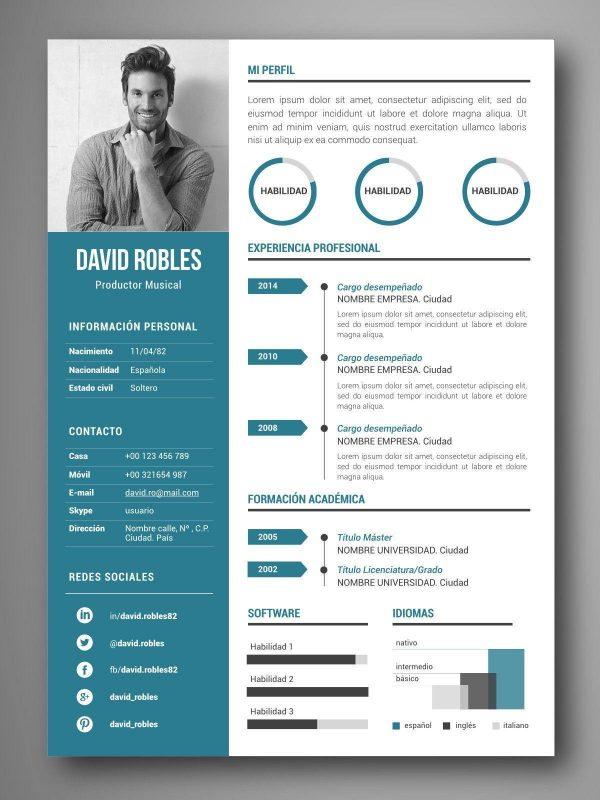 mejores plantillas curriculum infografia word