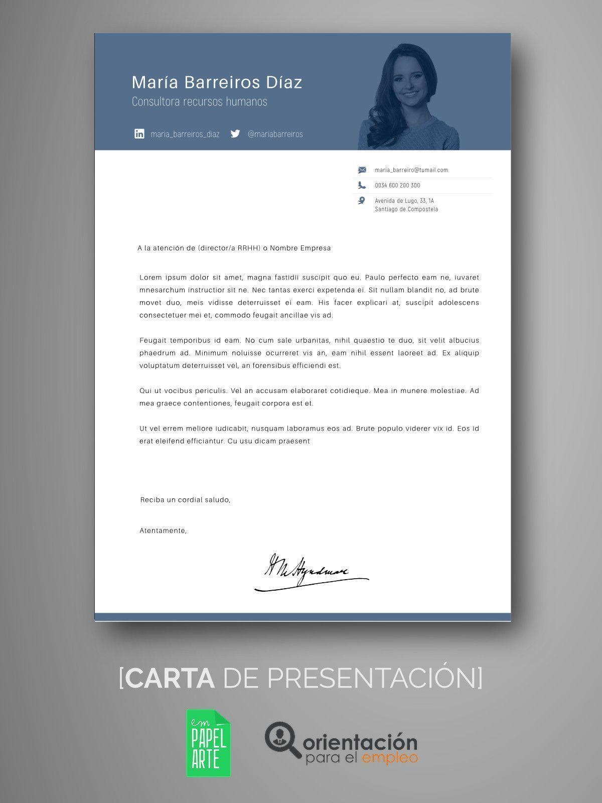 Moderno Reanuda La Carta De Presentación Foto - Ejemplo De ...