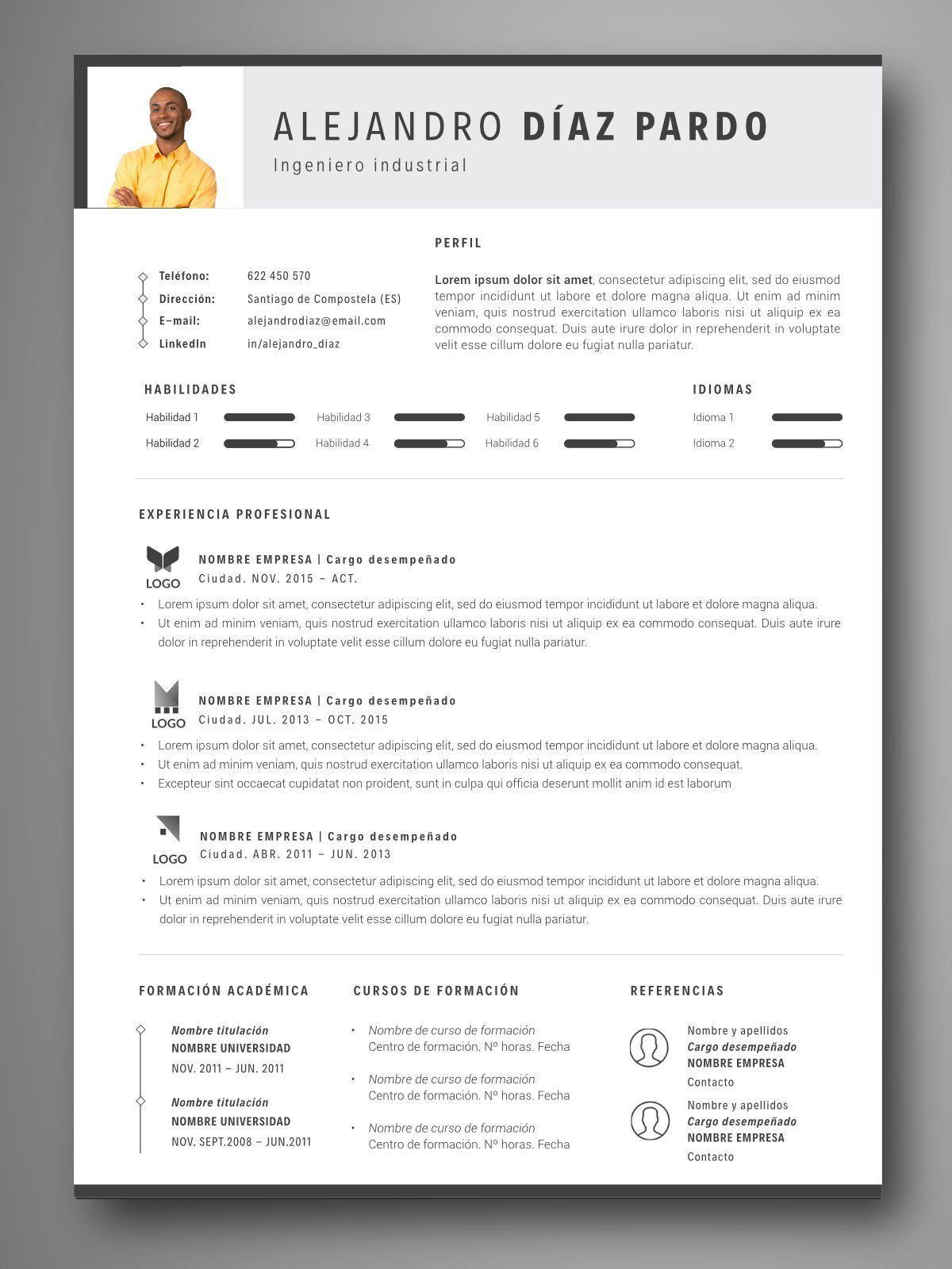 PLANTILLA CV BRUSELAS - Orientación para el empleo. Herramientas ...