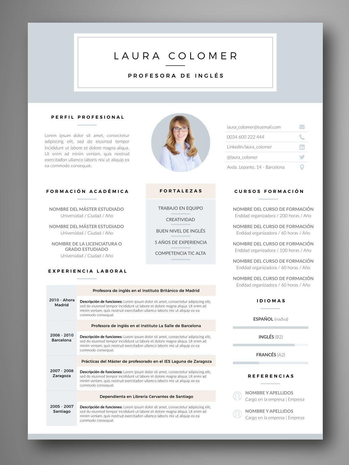 PLANTILLA CV SALAMANCA - Orientación para el empleo. Herramientas ...