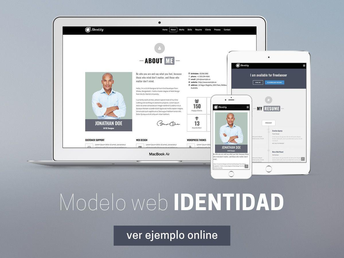 PACK MARCA PERSONAL 2.0: Servicio diseño web personal- CV online