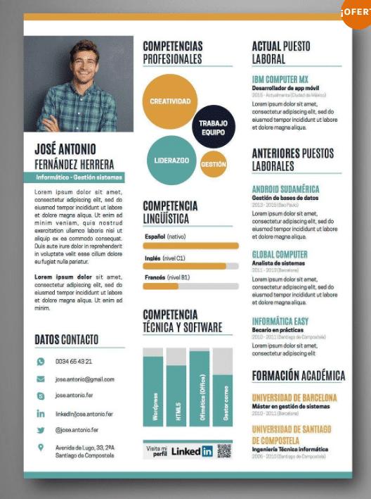 Como Hacer Curriculum Infografico Modelos Y Ejemplos Plantillas Cv