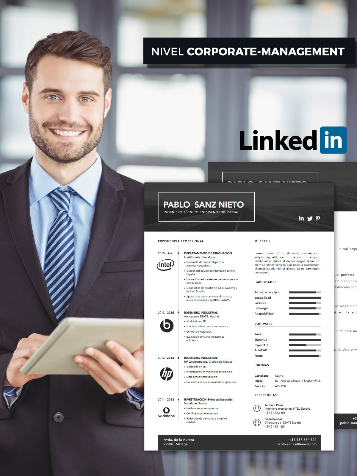 pack posiciona plus  curr u00edculum   carta  linkedin