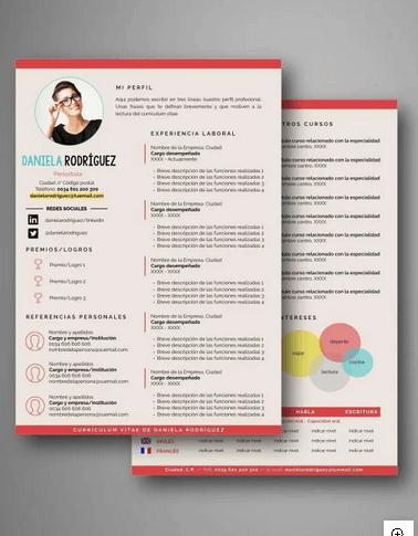 modelo de iconos en CV
