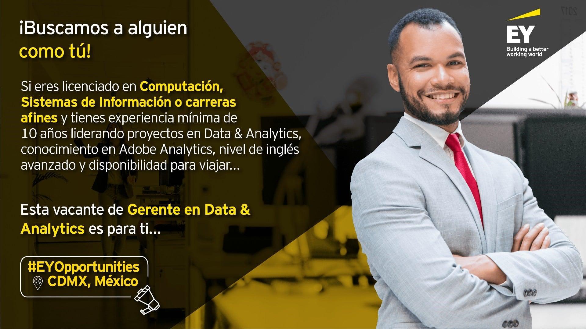 Gerente en Data & Analytics