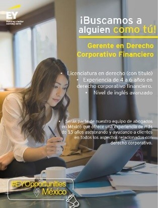 Gerente en Derecho Corporativo Financiero